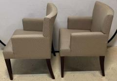 Four HBF Stamped Covered Upholstered Armchairs by Pace - 1305692