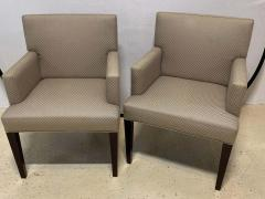 Four HBF Stamped Covered Upholstered Armchairs by Pace - 1305693