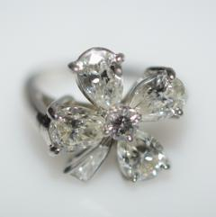 Four Leaf Clover Diamond and Platinum Ring - 1124197