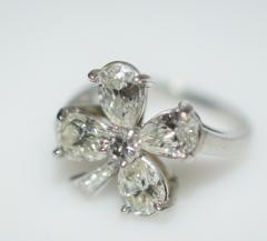 Four Leaf Clover Diamond and Platinum Ring - 1124198