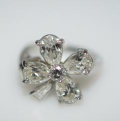 Four Leaf Clover Diamond and Platinum Ring - 1124199