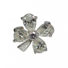 Four Leaf Clover Diamond and Platinum Ring - 1155572