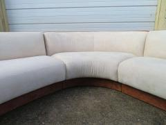 Four Piece Curved Serpentine Sectional Sofa Weiman - 1570716