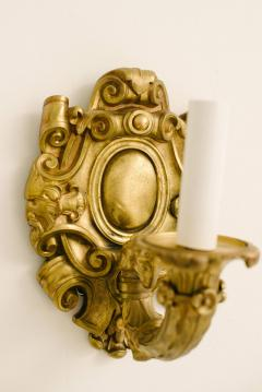 Four Turn of the Last Century French Louis XV Bronze Dore Sconces - 1226001