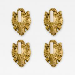 Four Turn of the Last Century French Louis XV Bronze Dore Sconces - 1226129