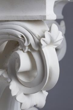 Four large Corinthian half capitals in plaster France circa 1930 - 915476