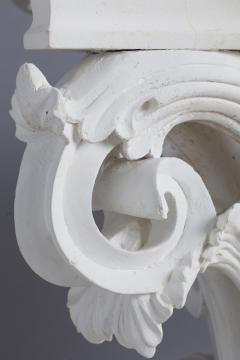 Four large Corinthian half capitals in plaster France circa 1930 - 915477