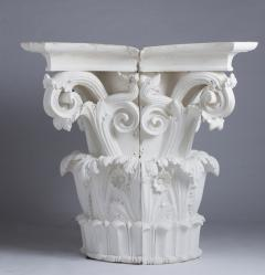 Four large Corinthian half capitals in plaster France circa 1930 - 915479