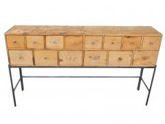 Fourteen Drawer Pine Apothecary - 1699102