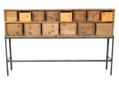Fourteen Drawer Pine Apothecary - 1699103