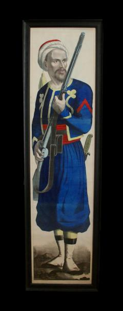 Fr d ric Charles Wentzel A Large Lithograph By Fr d ric Charles Wentzel Depicting A Tirailleur Alg rian - 1378809