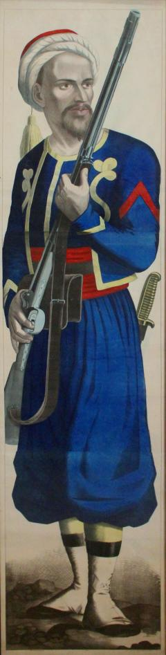 Fr d ric Charles Wentzel A Large Lithograph By Fr d ric Charles Wentzel Depicting A Tirailleur Alg rian - 1379729