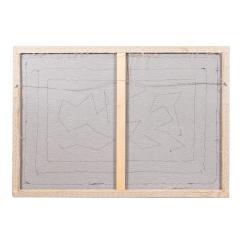 Framed American hooked wool rug - 1922272
