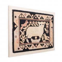 Framed American hooked wool rug - 1922274