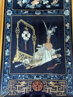 Framed Antique Chinese Embroidery Panel Qing Dynasty - 1569272
