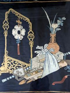 Framed Antique Chinese Embroidery Panel Qing Dynasty - 1569273
