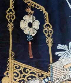 Framed Antique Chinese Embroidery Panel Qing Dynasty - 1569274