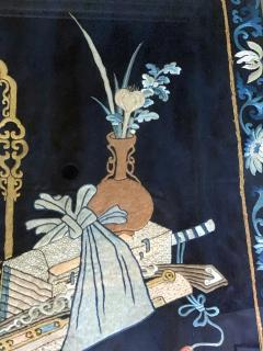 Framed Antique Chinese Embroidery Panel Qing Dynasty - 1569279