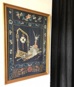 Framed Antique Chinese Embroidery Panel Qing Dynasty - 1569281