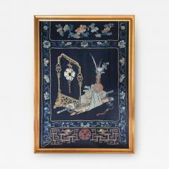 Framed Antique Chinese Embroidery Panel Qing Dynasty - 1569291