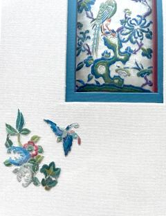 Framed Antique Chinese Embroidery Panel Qing Dynasty Provenance - 1766514