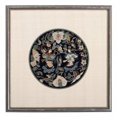 Framed Antique Chinese Embroidery Qing Dynasty Provenance - 1766030