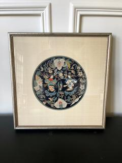 Framed Antique Chinese Embroidery Qing Dynasty Provenance - 1766032