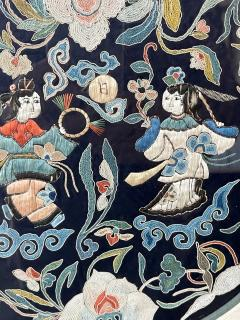 Framed Antique Chinese Embroidery Qing Dynasty Provenance - 1766033