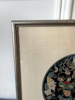 Framed Antique Chinese Embroidery Qing Dynasty Provenance - 1766034