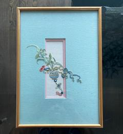 Framed Antique Chinese Embroidery Textile Qing Dynasty Provenance - 1766633