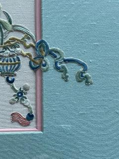 Framed Antique Chinese Embroidery Textile Qing Dynasty Provenance - 1766636