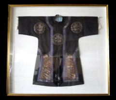 Framed Antique Chinese Imperal Silk Robe - 783350