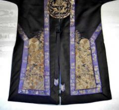 Framed Antique Chinese Imperal Silk Robe - 783354