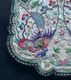 Framed Antique Embroidered Purse Qing Dynasty Provenance - 1766610