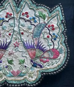 Framed Antique Embroidered Purse Qing Dynasty Provenance - 1766616