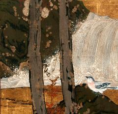 Framed Antique Japanese Landscape Painting Edo Period - 1119018