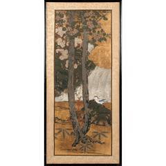 Framed Antique Japanese Landscape Painting Edo Period - 1119019