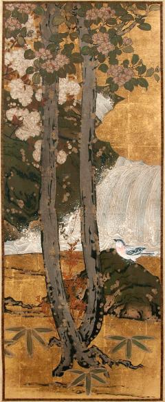 Framed Antique Japanese Landscape Painting Edo Period - 1119169