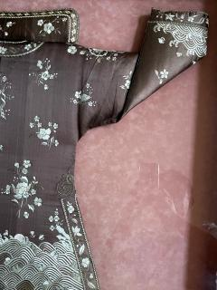 Framed Antique Two Piece Chinese Embroidery Winter Jacket Ensemble - 1888746