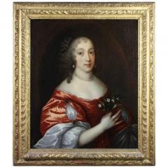 Framed Charles II Oil on Canvas of a Noblewoman - 1532346