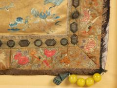 Framed Chinese Antique Silk Embroidery Cushion Cover with Beads - 1972542