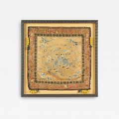Framed Chinese Antique Silk Embroidery Cushion Cover with Beads - 1973582