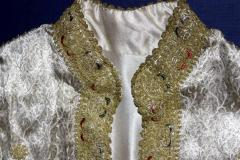 Framed Ottoman Coat with Metallic Thread Embroidery - 1410985