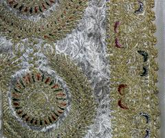 Framed Ottoman Coat with Metallic Thread Embroidery - 1410987