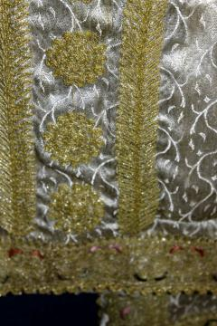 Framed Ottoman Coat with Metallic Thread Embroidery - 1410988