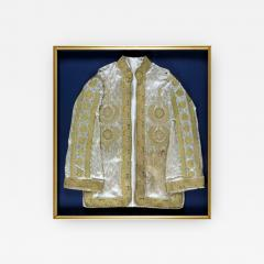 Framed Ottoman Coat with Metallic Thread Embroidery - 1411316