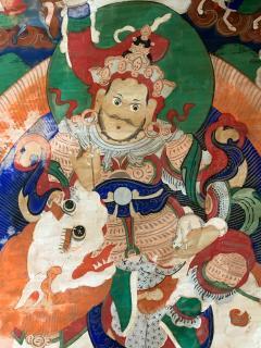 Framed Tibetan Thangka Vaisravana Jambhala - 1418407