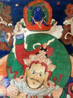 Framed Tibetan Thangka Vaisravana Jambhala - 1418408