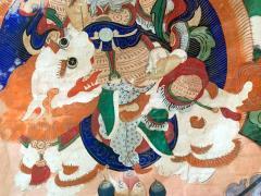 Framed Tibetan Thangka Vaisravana Jambhala - 1418418