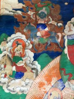 Framed Tibetan Thangka Vaisravana Jambhala - 1418419